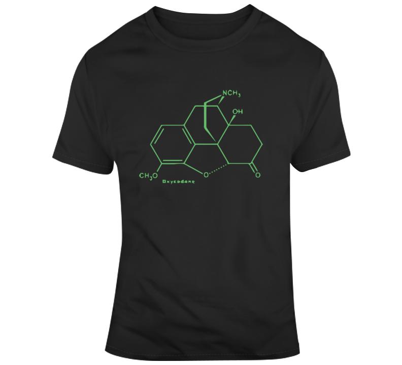 Oxycodone Molecule T Shirt