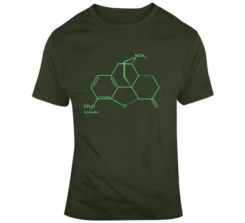 Vicodin Molecule T Shirt
