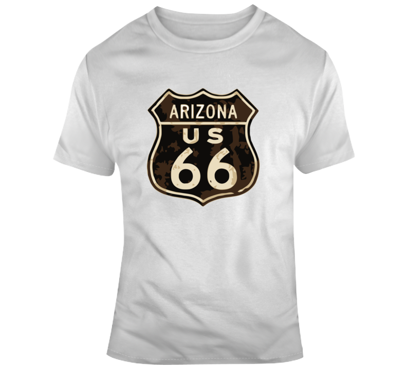 Rusted Arizona Route 66 Road Sign T Shirt