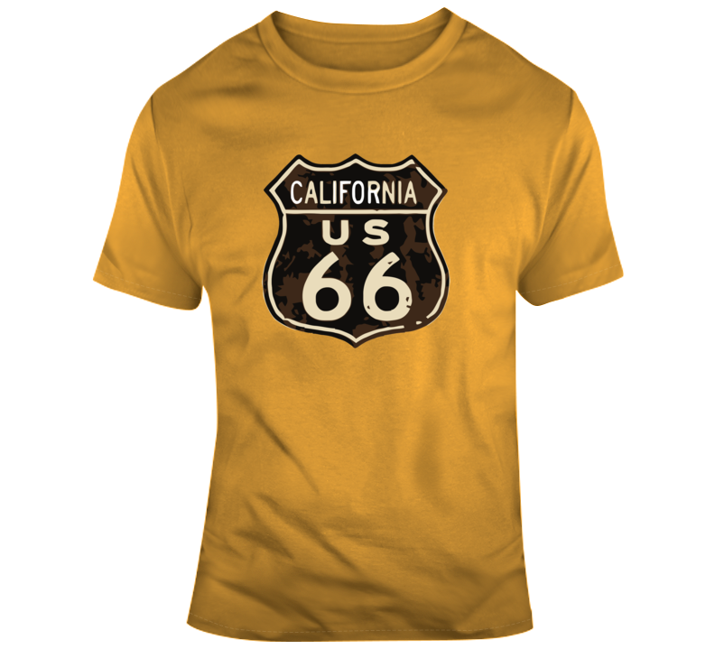 Rusted California Route 66 Road Sign T Shirt