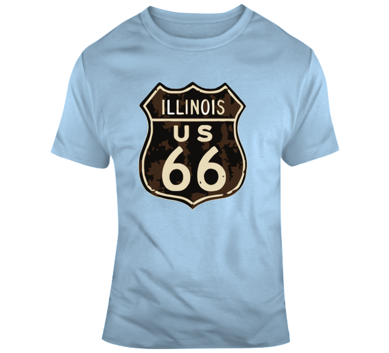 Rusted Illinois Route 66 Road Sign T Shirt