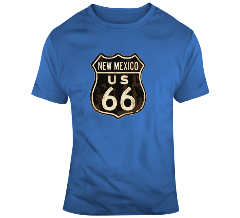 Rusted New Mexico Route 66 Road Sign T Shirt