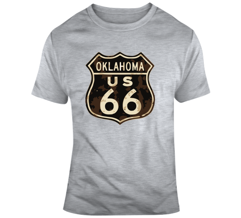 Rusted Oklahoma Route 66 Road Sign T Shirt