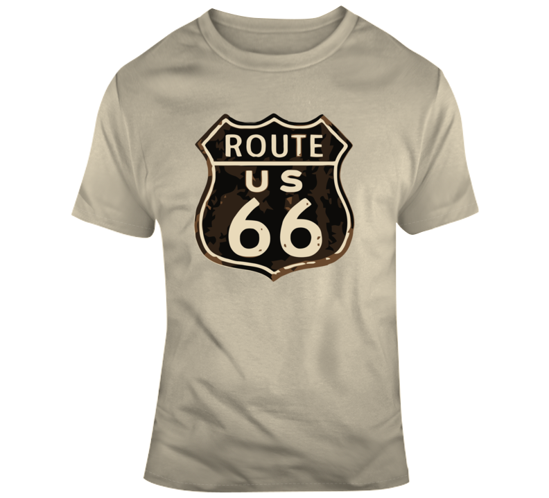 Rusted Route 66 Road Sign T Shirt