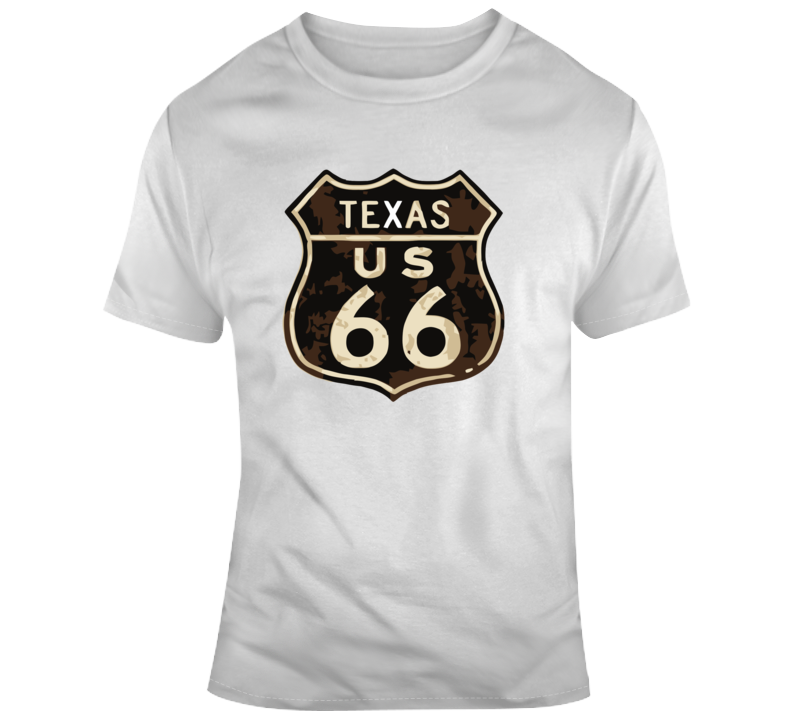 Rusted Texas Route 66 Road Sign T Shirt