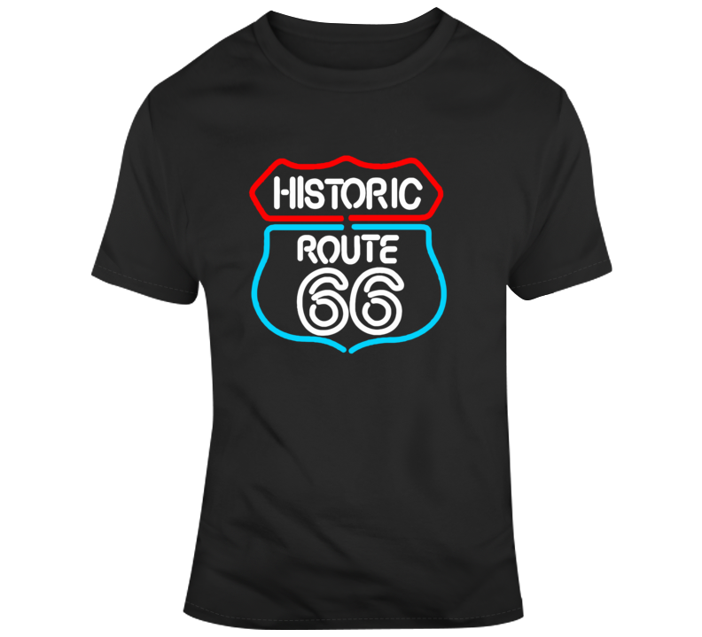 Historic Route 66 Neon Sign T Shirt