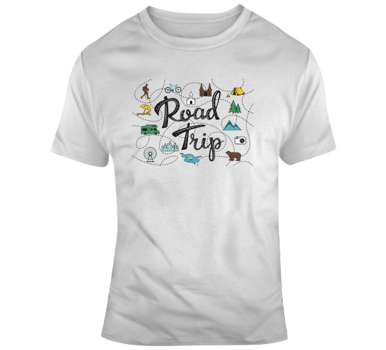 Road Trip Treasure Map T Shirt