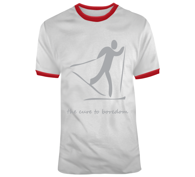 Cross Country Skiing, Cure To Boredom T Shirt