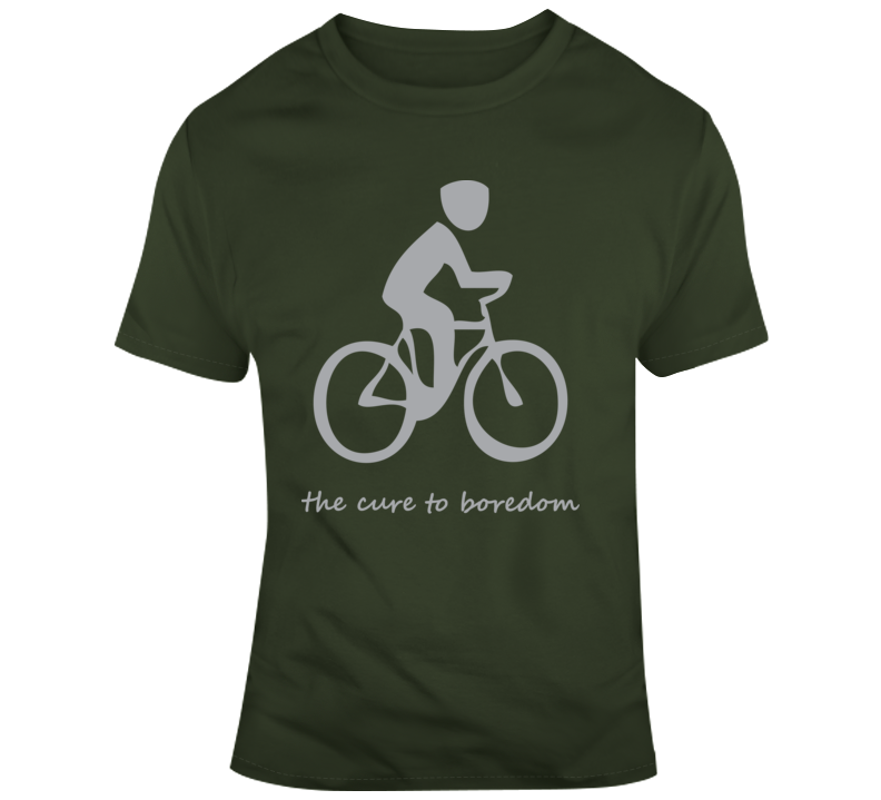 Cycling, Cure To Boredom T Shirt