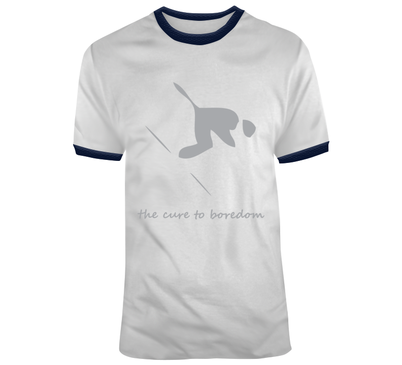 Downhill Skiing, Cure To Boredom T Shirt