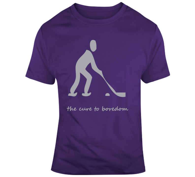 Hockey, Cure To Boredom T Shirt