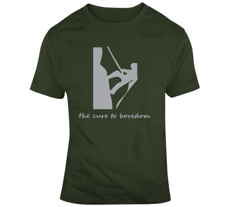 Rappelling, Cure To Boredom T Shirt