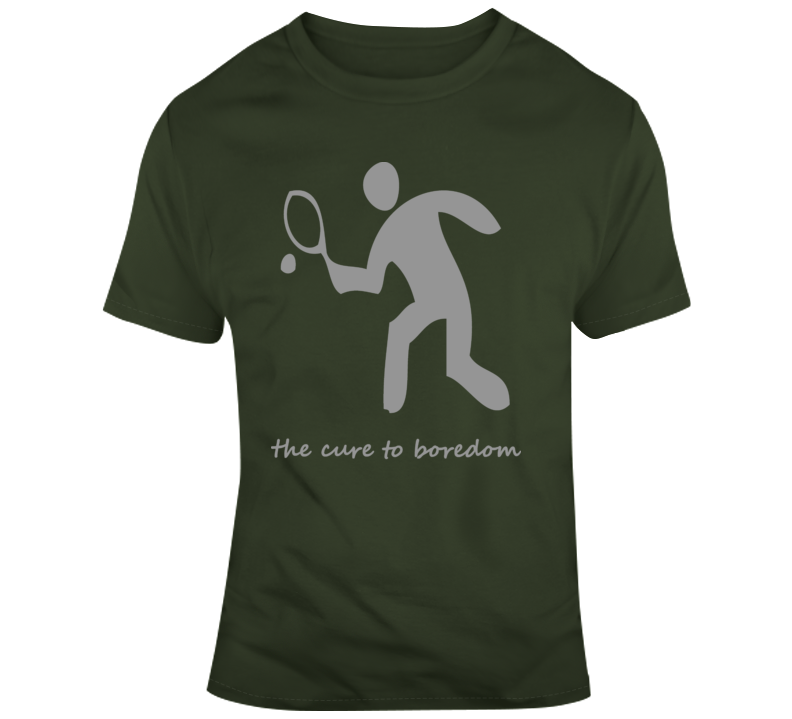 Tennis, Cure To Boredom T Shirt