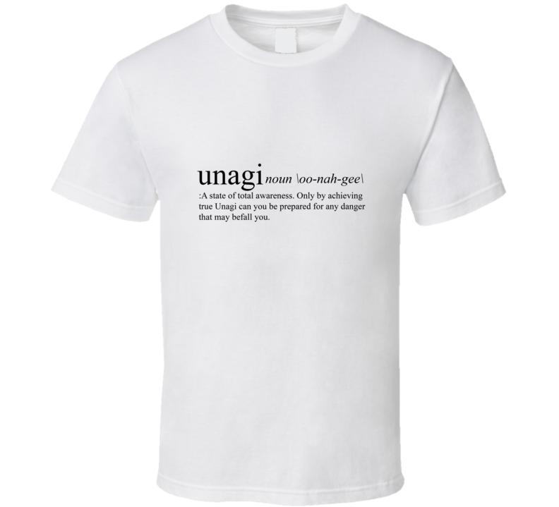 Unagi Definition Friends Ross Funny Tv Tshirt