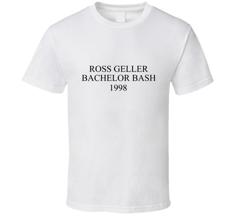 Ross Geller Bachelor Bash 1998 Friends Tv Show T-shirt