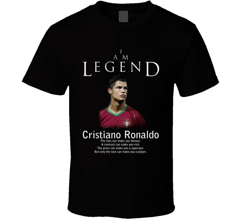 Cristiano Ronaldo Portugal Legend Soccer T Shirt