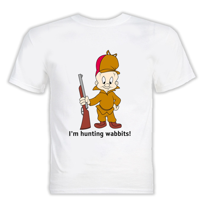 Elmer Fudd I'm Hunting Wabbits Cartoon T Shirt