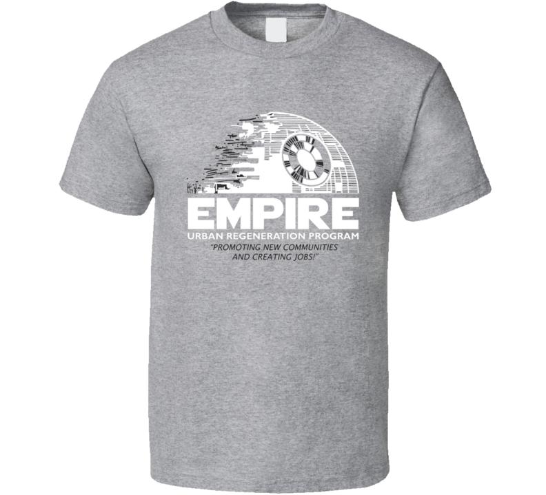 Star Wars Empire Rebuild Darth Death Star T Shirt