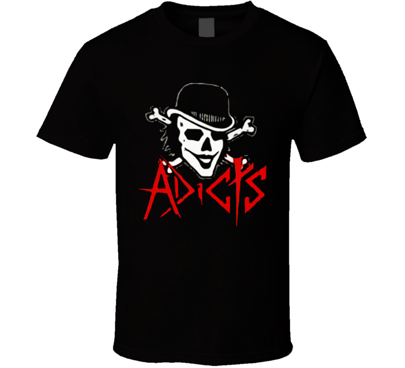 The Adicts Skull Punk Rock T Shirt