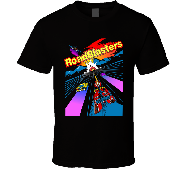 RoadBlasters 80s Retro Video Game T Shirt