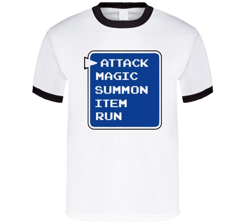 Role Playing Attack Magic Summon Item Run T Shirt
