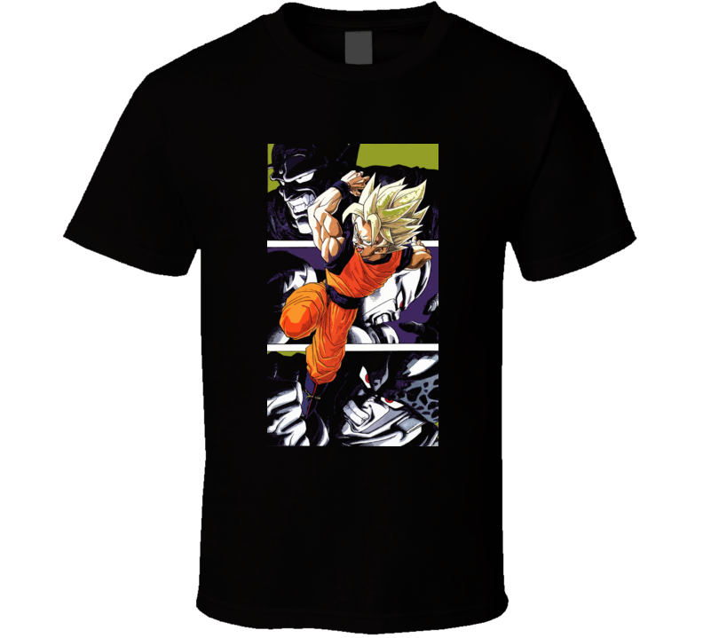 Dragon Ball Z Goku Piccolo Freeza Cell T Shirt