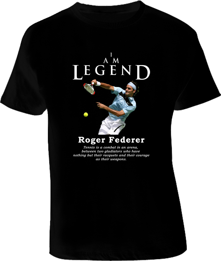 Roger Federer Legend Tennis T Shirt