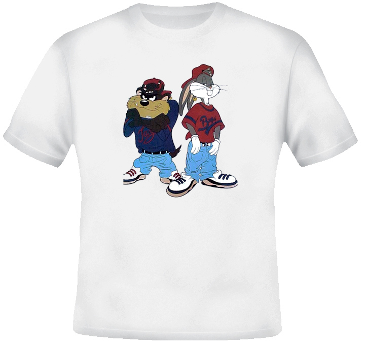 Bugs and Taz Thug Cartoon T Shirt