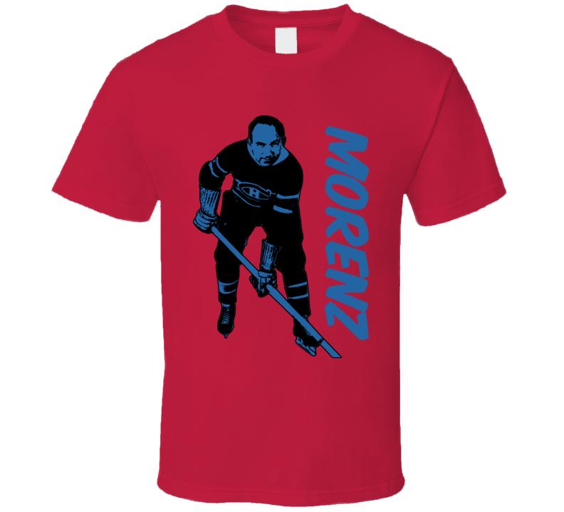 Howie Morenz Montreal Hockey Retro T Shirt