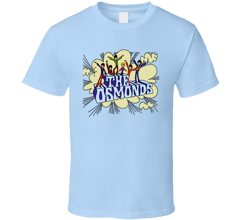 The Osmonds Cartoon 70s Retro T Shirt