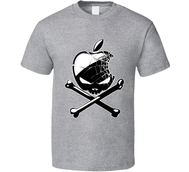 Apple Skull and Bones T Shirt