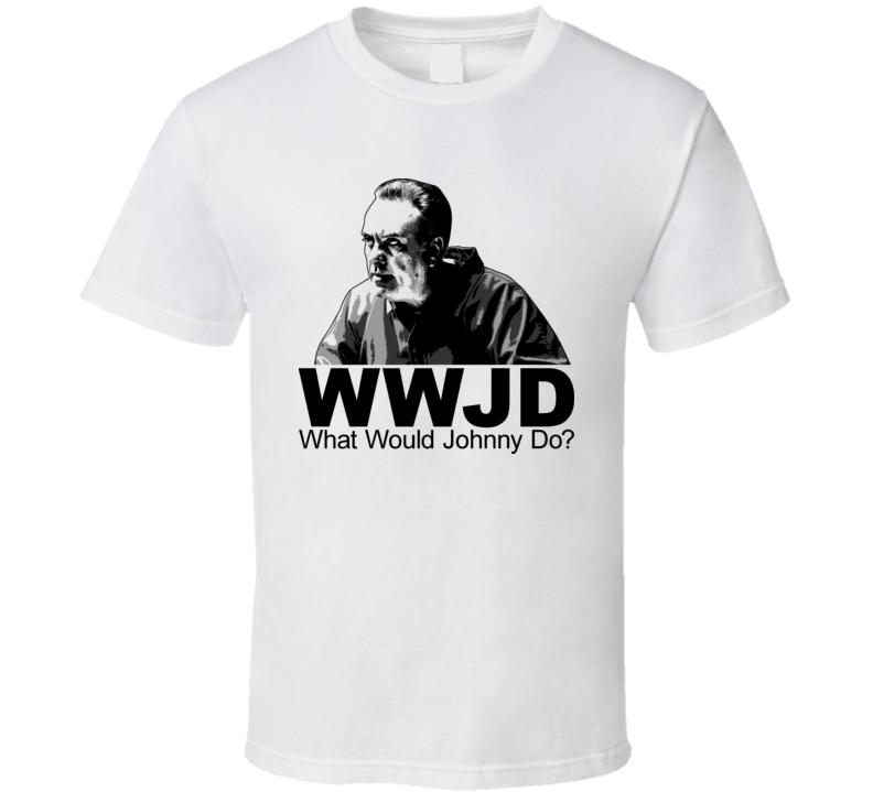 WWJD Johnny Sack Sacrimoni Sopranos T Shirt