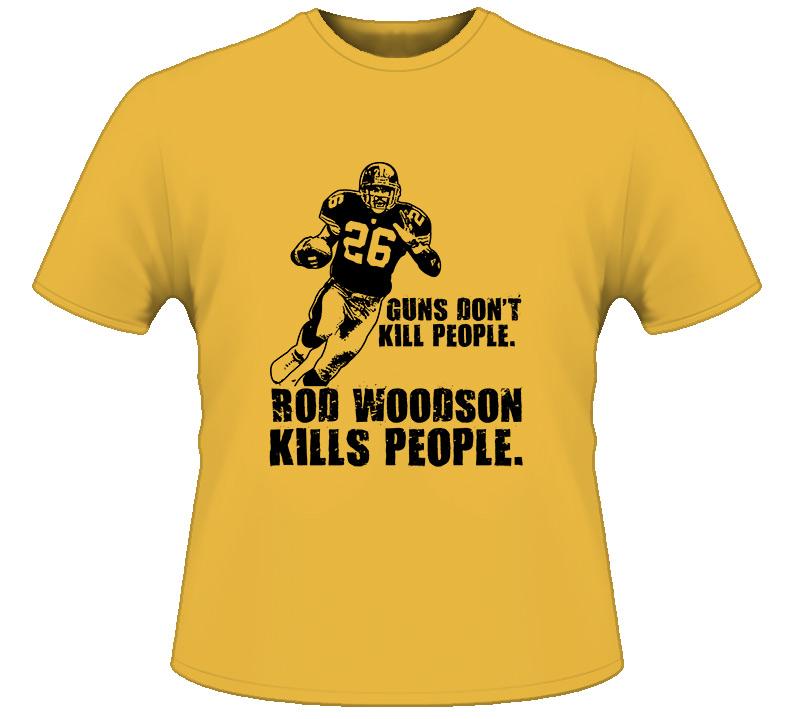 Rod Woodson Guns Dont Kill Pittsburgh Football T Shirt
