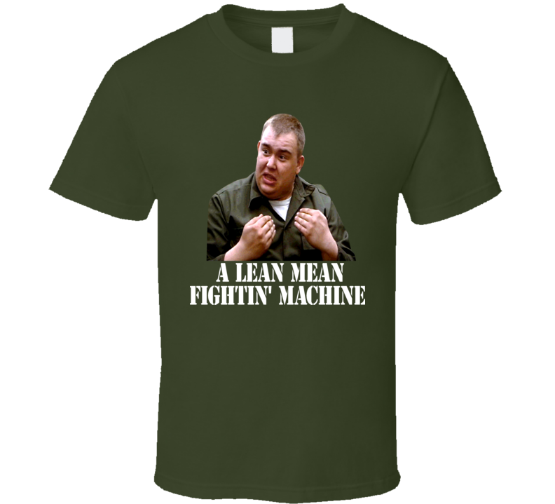 John Candy Stripes Lean Mean Fighting Machine T Shirt