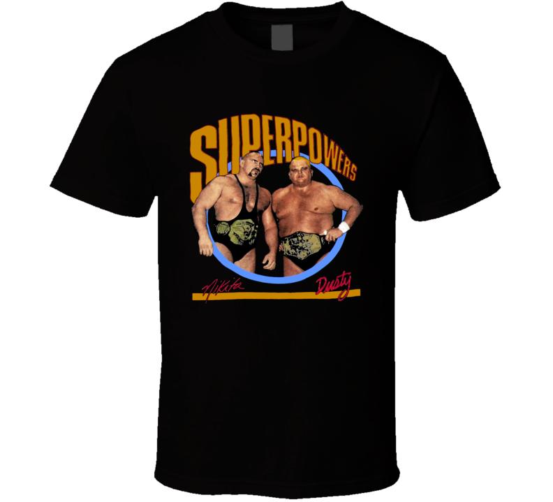Dusty Rhodes Nikita Koloff WCW Wrestling T Shirt