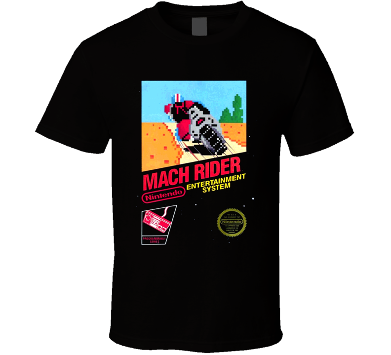 NES Mach Rider Nintendo Video Game Box Art T Shirt