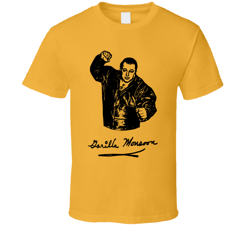 Gorilla Monsoon Retro Wrestling T Shirt