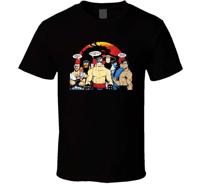 Mortal Kombat Retro Video Game T Shirt