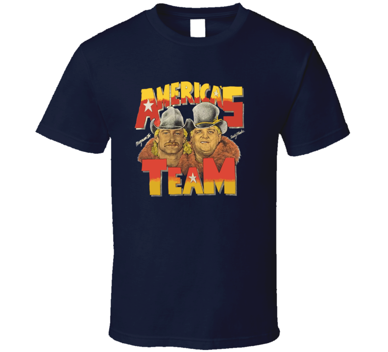 Dusty Rhodes Magnum TA America's Team Wrestling T Shirt