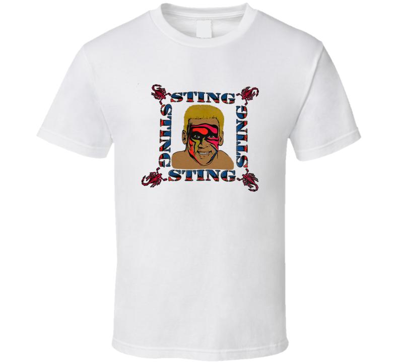 Sting Scorpion Retro WCW Wrestling T Shirt