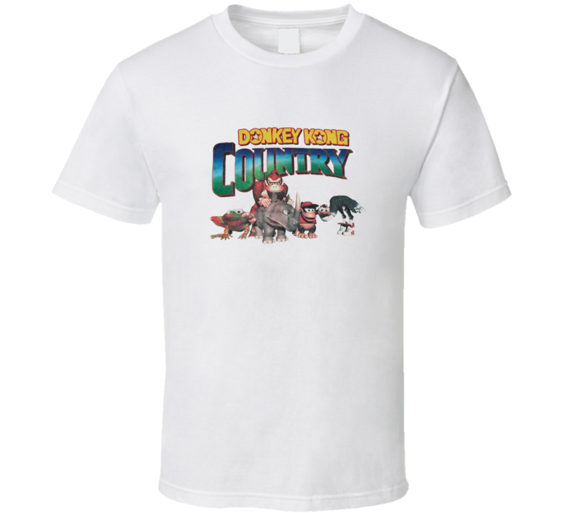 Donkey Kong Country SNES Video Game T Shirt