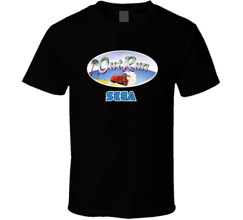 Out Run Classic Sega Video Game T Shirt