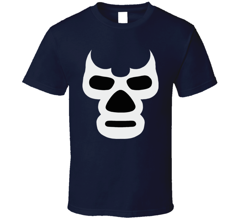 Blue Demon Big Face Mexican Wrestling T Shirt