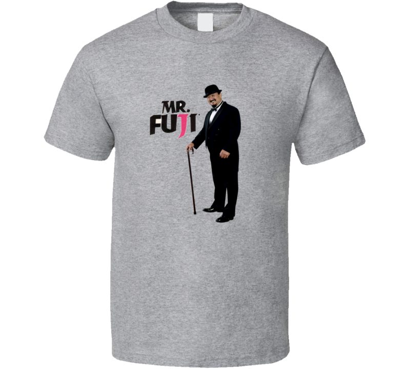 Mr. Fuji WWF Wrestling Legend T Shirt - Grey