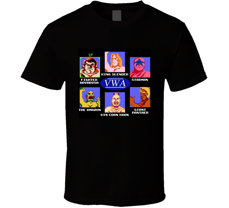 Pro Wrestling NES Characters VWA T Shirt