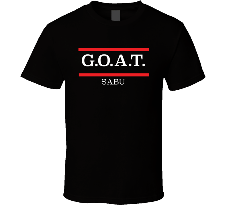 GOAT Greatest Of All Time Sabu Pro Wrestling Fan T Shirt