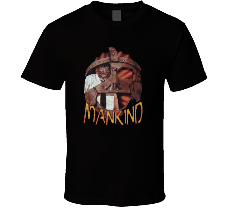 Mankind Mick Foley Retro WWF Superstar T Shirt