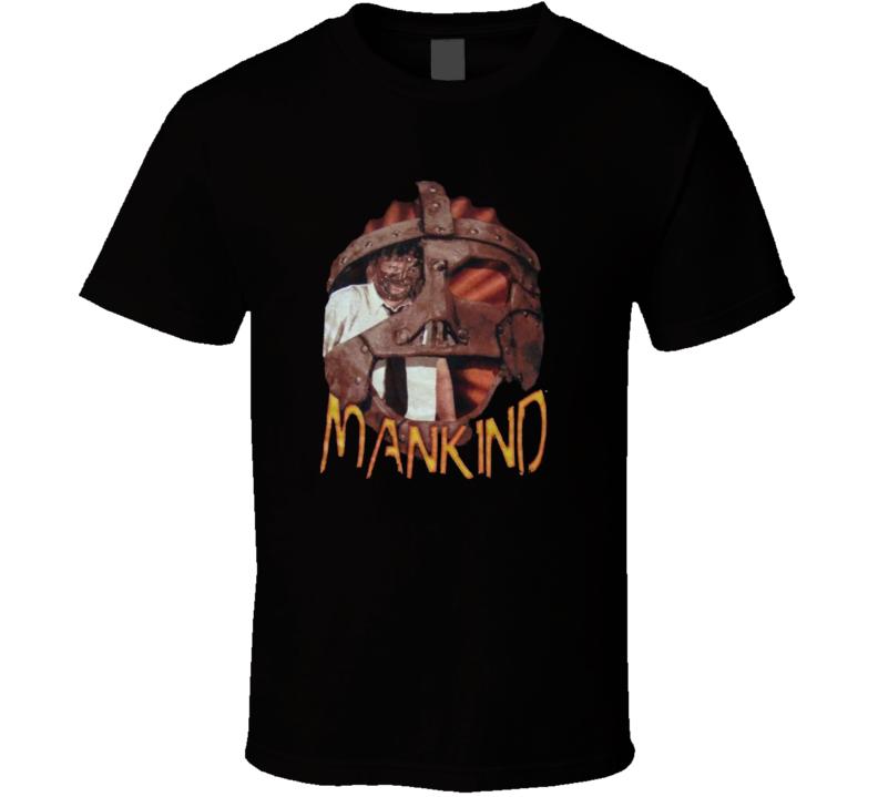 Mankind Mick Foley Retro WWF Superstar T Shirt