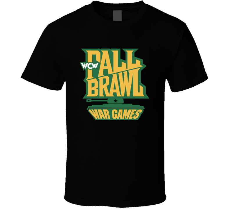 Wcw Fall Brawl War Games Wrestling T Shirt - Black