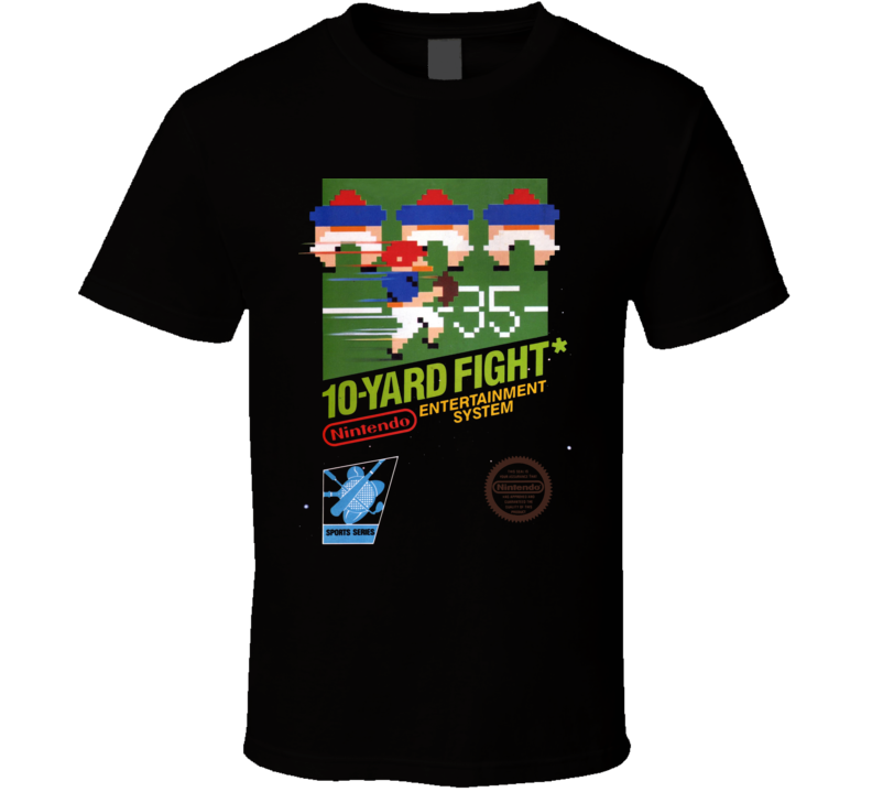 10 Yard Fight Nes Classic Black Box Video Game T Shirt